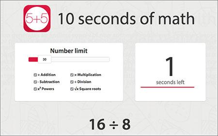 10 segundos de matemáticas