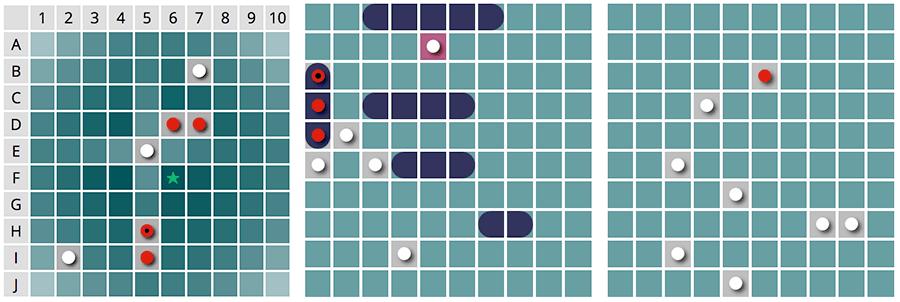 Battleship / Hundir la flota, calculadora de probabilidades