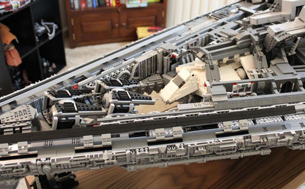Doomhandle lego star destroyer with three level interior 15