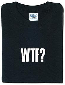 Camiseta WTF de Think Geek