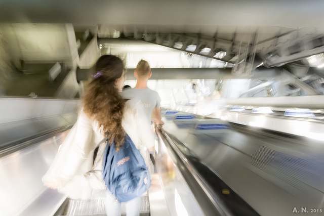 Escalator at Westminster Underground Station (CC) Alan Newman