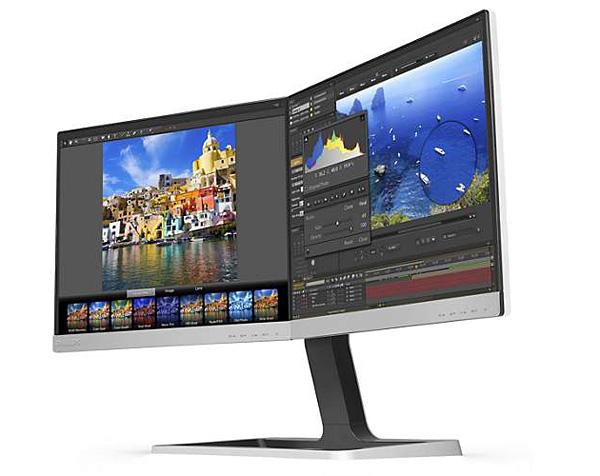 El monitor con dos pantallas de Philips
