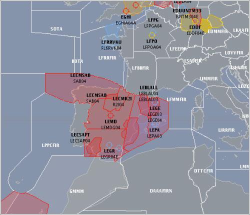Espacio aéreo europeo a las 9 de la mañana - Eurocontrol