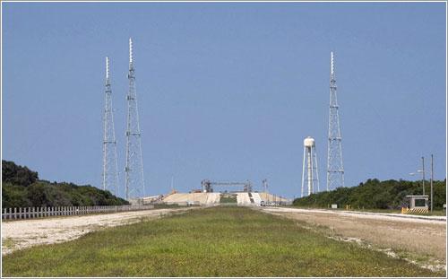 Plataforma de lanzamiento 39b desmontada - NASA/Jim Grossmann