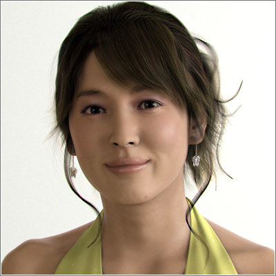 Mujer 3D hiperrealista