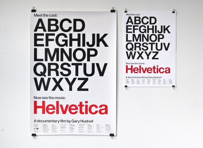 Helvética, el póster