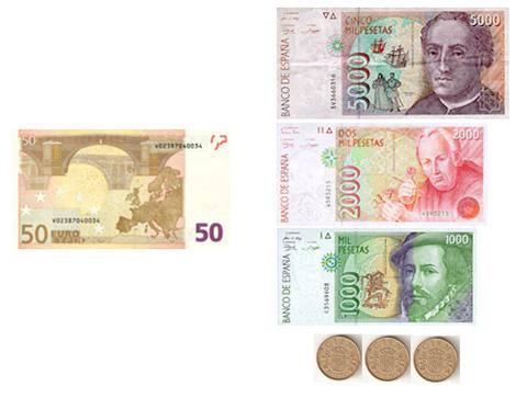 50 euros no son 5.000 pesetas, son más bien 8.300