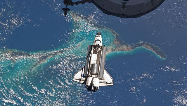 Atlantis Over the Bahamas (NASA, International Space Station, 07/10/11)