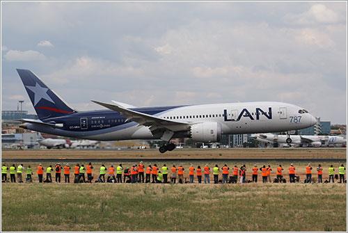 787 de LAN Chile en Barajas