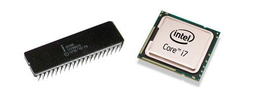 Intel 8086 y Core i7