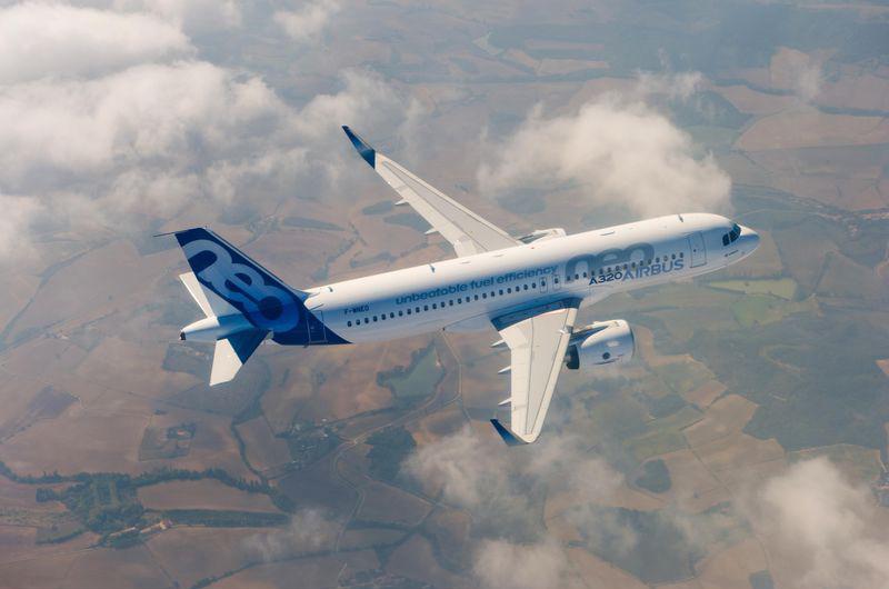 A320neo en vuelo