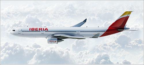 Un A330 de Iberia con la nueva librea