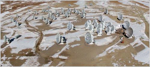 Algunas de las antenas de ALMA