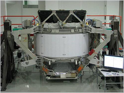 El AMS durante su fase de pruebas en Ginebra - NASA/JSC