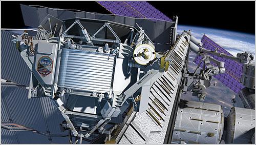 El AMS montado en la ISS - NASA/JSC
