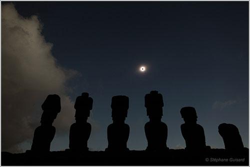 Foto del eclipse por Stéphane Guisard