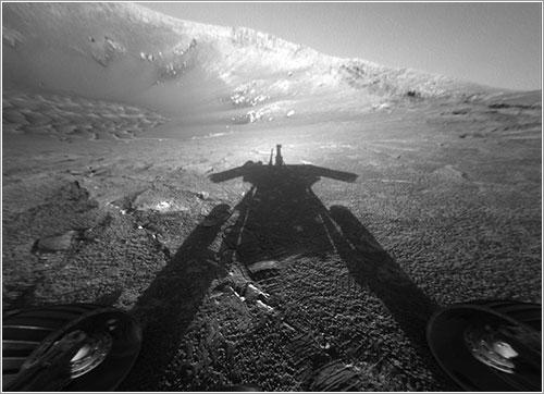 La sombra de Oportunity en Marte - NASA