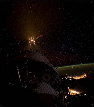 ATV-3 llegando a la ISS / NASA