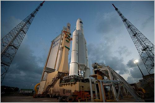 ATV3 en la plataforma - ESA - S. Corvaja