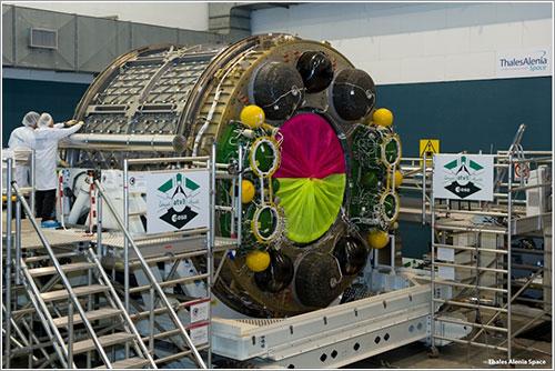 El módulo de carga del ATV-3 - Thales Alenia Space