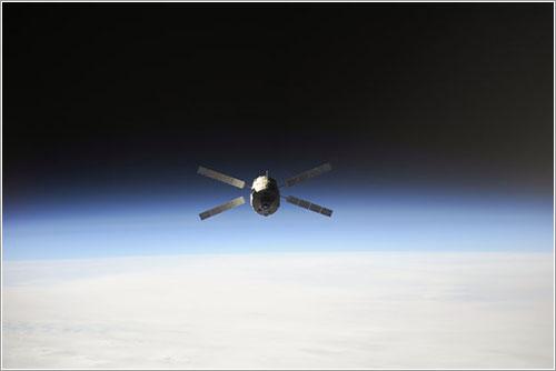 El ATV-4 a su aprtida de la Estación Espacial Internacional