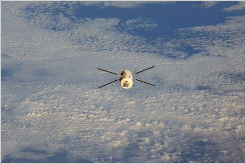 Una de las últimas imágenes del Julio Verne - ESA