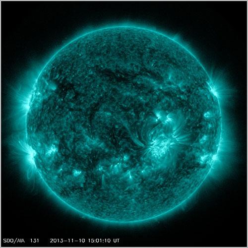 Actividad solar vista por el SDO