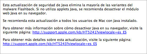 Actualizaciones Apple contra Flashback
