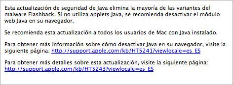 Actualizaciones Apple contra Flashback