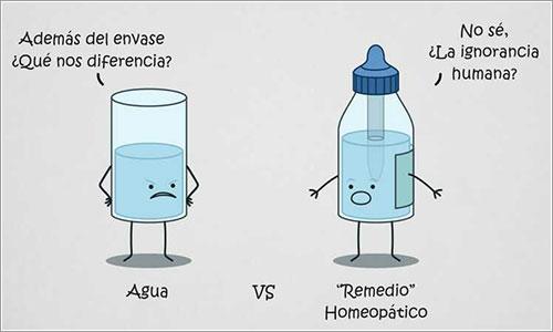 Agua vs remedio homeopático