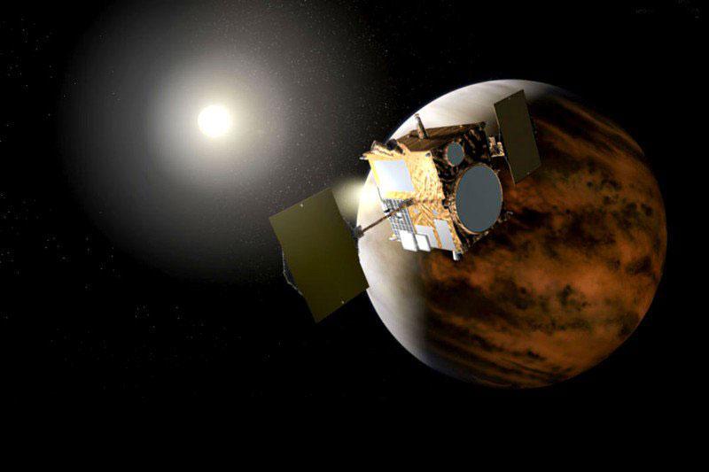 Impresión artística de Akatsuki en órbita