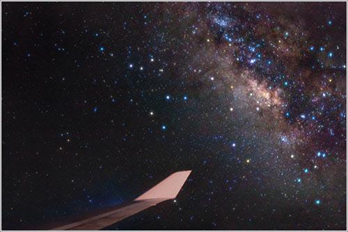 Alavionismo con Vía Láctea