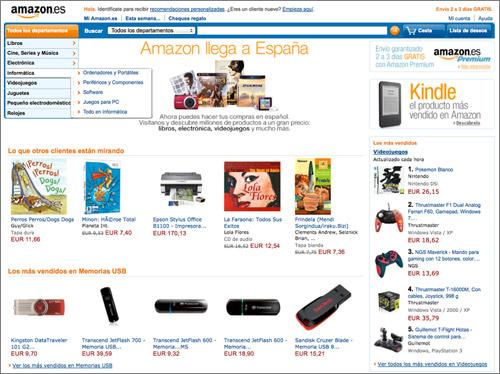 Página principal de Amazon.es