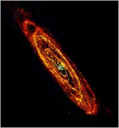 Andrómeda vista por el Herschel