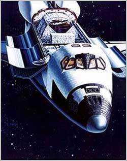 Antena banda Ku transbordador espacial