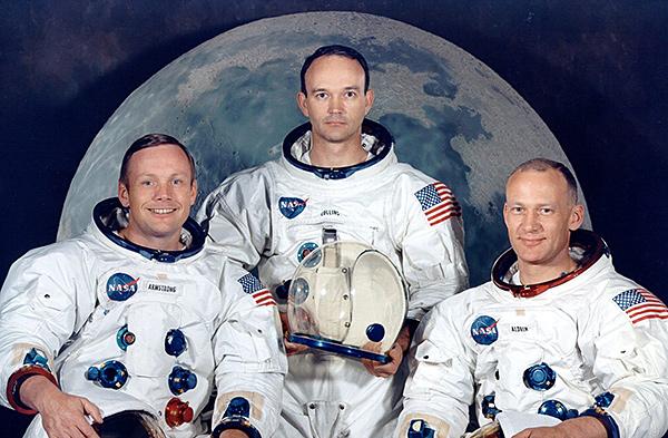 La tripulación del Apolo XI
