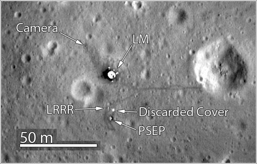 Base Tranquilidad vista por la LRO - NASA