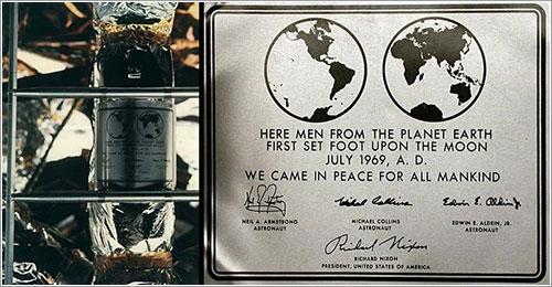 Placa fijada al Eagle - NASA
