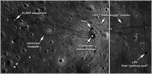 Lugar de aterrizaje del Apolo 17 - NASA