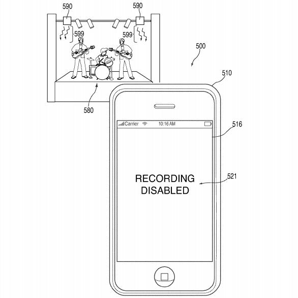 Apple patente no camara conciertos