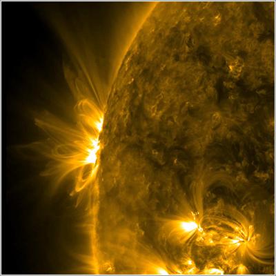 Una región activa que viene hacia nosotros - NASA/SDO