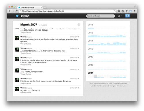 Mi archivo de Twitter
