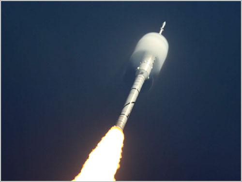 Ares I-X en vuelo - NASA