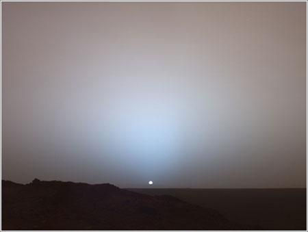 Atardecer en Marte © NASA/JPL/Texas A&M/Cornell