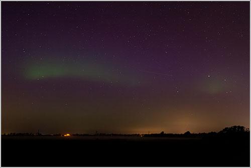 Aurora boreal en Burgum por Peter Elzinga