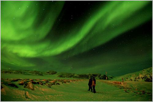 Aurora sobre Ivujivik por Sylvain Serre