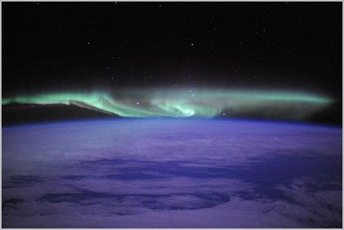 Aurora sobre el polo sur por Douglas Wheelock