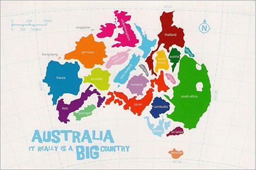 Australia es un país muy grande