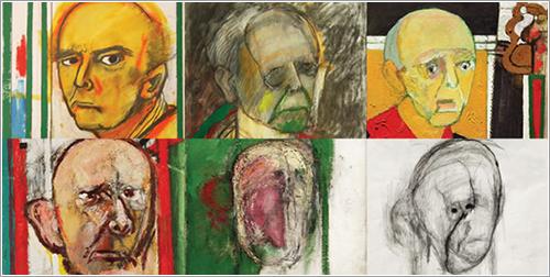Autorretratos de William Utermohlen con Alzheimer