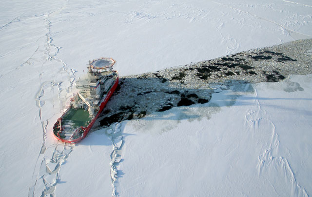El Baltika en acción
